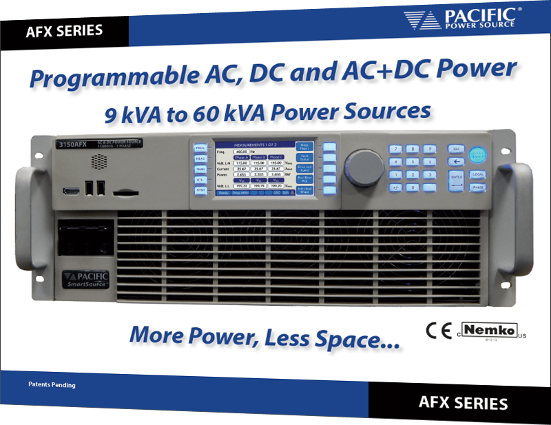 Programmable AC, DC and AC+DC Power flyer AFX series