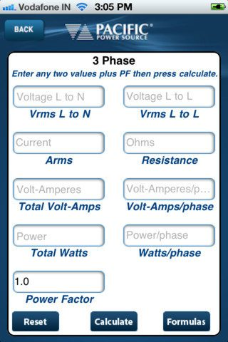 Power Calculator   Pacific Power Source